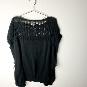 NWT Simply Vera Wang distressed poncho sweater